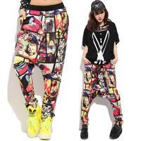 Baalmar yeni moda yetişkin pantolon joggers yıldız sweatpants desen kostümleri harem hip hop dans uygulama pantolon womens