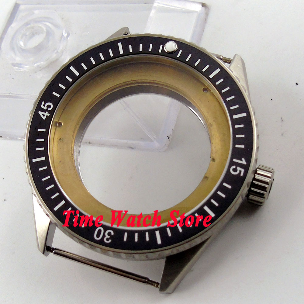 Debert Fit 2824 2836 movement 43mm black ceramic bezel sapphire glass 5ATM watch case C83 цена и фото