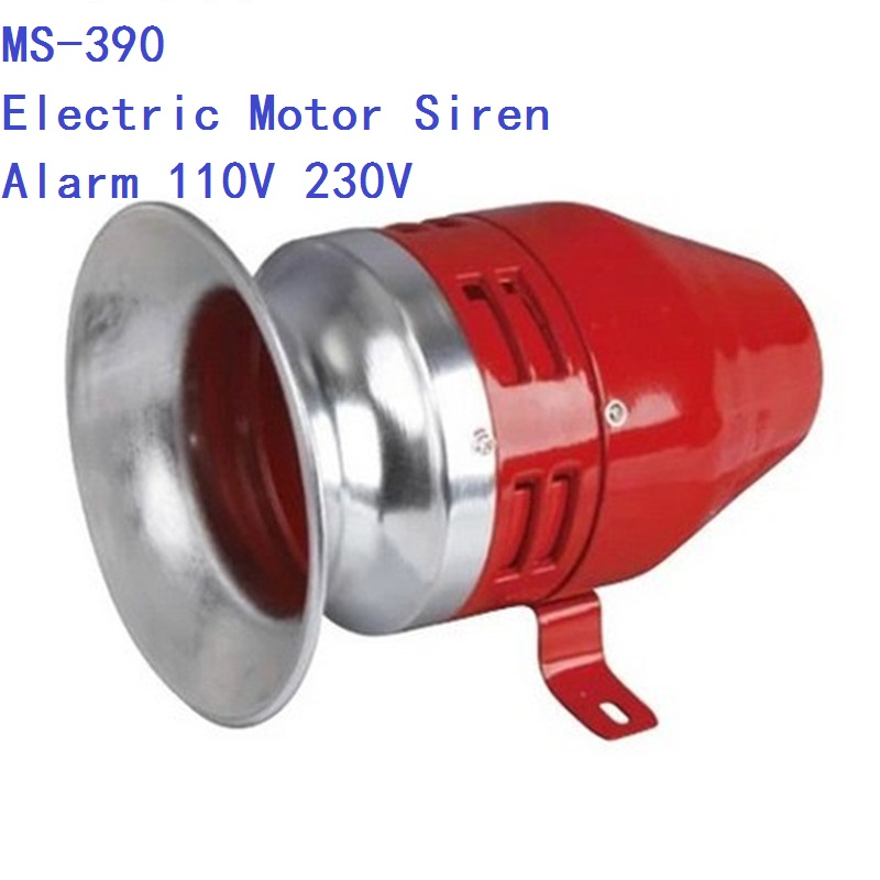 free shipping AC 220V 130dB MS-390 Mini Motor Driven Air Raid Siren Horn Car Truck Alarm ac 220v ms 190 automotive air raid siren horn car truck motor driven alarm red universal car horn for pickup truck