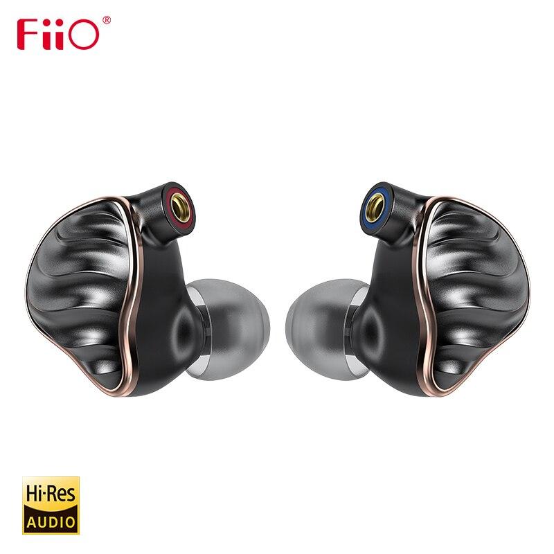 FiiO FH7 HiFi Audio Hi-res Béryllium PVD 5 Conducteur (4 Knowles BA + 1DD) Hybride Écouteur avec MMCX Détachable Câble