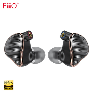 Image 1 - FiiO FH7 HiFi אודיו היי Res בריליום PVD 5 נהג (4 נואלס BA + 1DD) היברידי אוזניות עם MMCX להסרה כבל