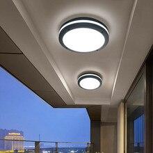 Thrisdar 24 W 30 W קצר חיצוני LED תקרת אור אלומיניום אמבטיה מרפסת מסדרון מעבר מרפסת עמיד למים פנל תקרת אור