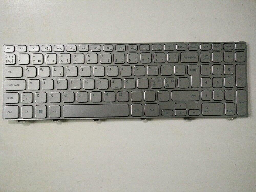 New Laptop keyboard for Dell Inspiron 15 7537 7737 DM/DK/danish  layout laptop keyboard for acer silver without frame danish dk v 121646ck2 dm aezqsm00110