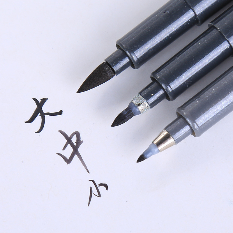 Calligraphy Pen For Signature Chinese Words Learning Japan Material Brush Lettering Art Marker Pens Stationery School Supplies