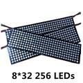 8*8 16*16 8*32 Pixel WS2812B WS2812 5050 RGB Full Color Flexível painel 64 256 LEDs 5 V DC panel display Combinação de a tela
