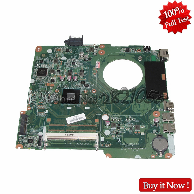NOKOTION DA0U8AMB6A0 828166-601 828166-001 Laptop Motherboard For HP Pavilion 15-F 15-F272 MainBoard SR1YW N3540 DDR3 nokotion 653087 001 laptop motherboard for hp pavilion g6 1000 series core i3 370m hm55 mainboard full tested