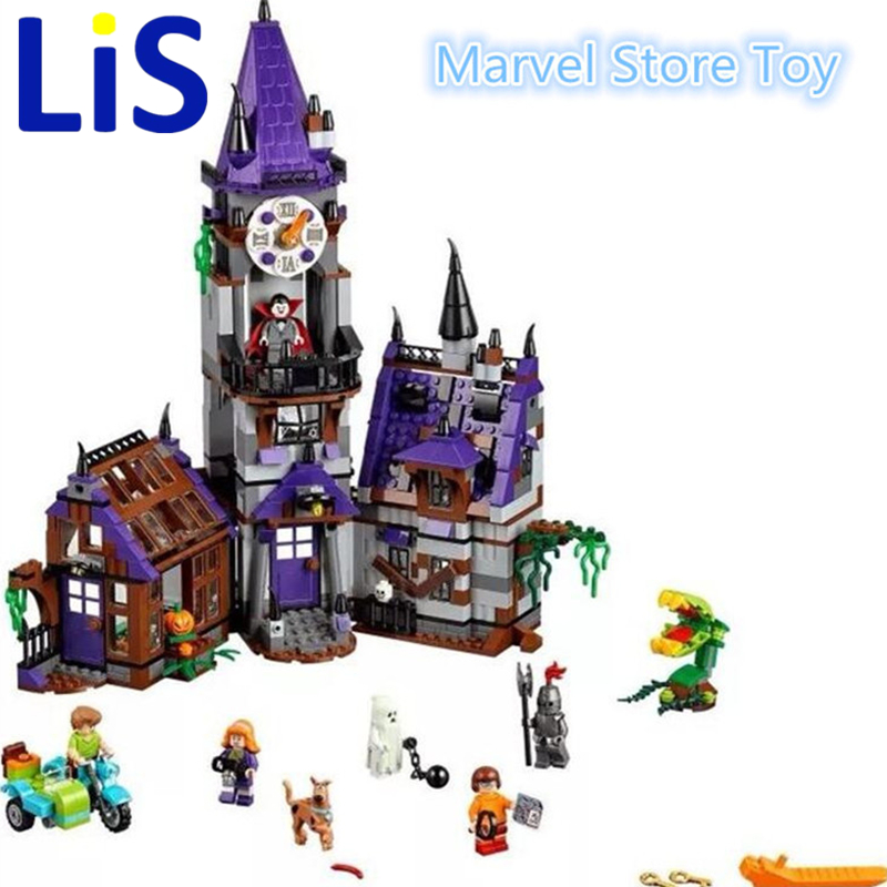 Lis Bela 10432 Scooby Doo Mysterious Ghost House Building Block Toys Lepin bela 10429 scooby doo mummy museum mysterious plane minifigures building block minifigure toys best legoelieds toys