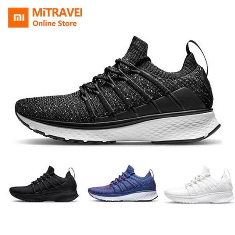 Xiaomi Mijia Men Shoes 2 Sports Sneaker Uni-moulding Techinique Fishbone Lock System Elastic Knitting Vamp Shock-absorbing Sole