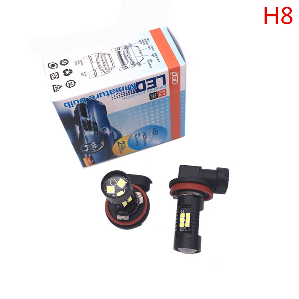 2PCS <font><b>H8</b></font> 6-<font><b>Cree</b></font>-XB-D White 30W Genuine <font><b>Cree</b></font> High Power <font><b>Led</b></font> for Fog Driving Light Bulbs for FORD Fusion CADILLAC CTS image