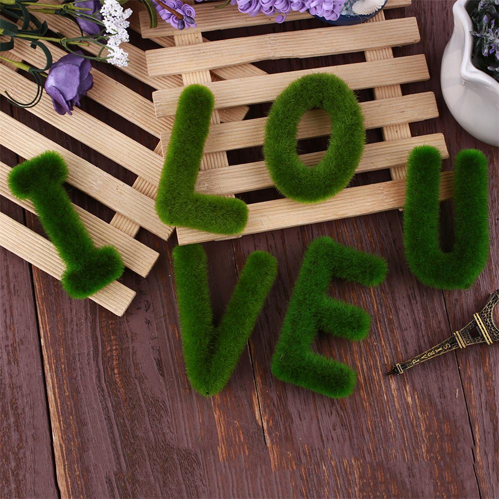 Буквенные предметы интерьера искусственный газон письмо искусственный газон украшение 26 слов ремесленный дом окно креативный