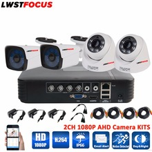 LWSTFOCUS 4CH 1080P HD Video Security System CCTV DVR 1080N 4PCS Weatherproof Outdoor 2.0MP Surveillance Security Camera System