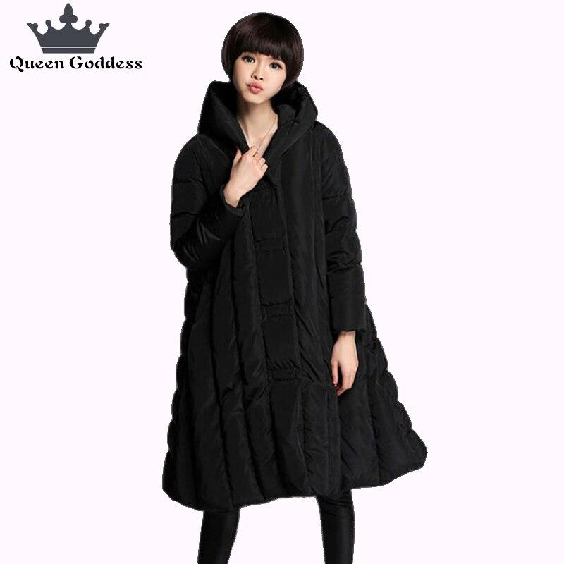 2018 Mode épaissir et Plus de femmes vers le bas plus la taille veste grand ourlet parkas 7XL outwear manteau chaud 90% blanc duvet de canard