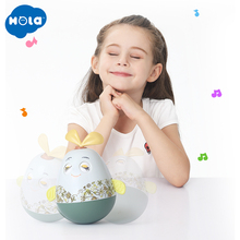 HOLA 3133 Baby Newborn Toys Nodding Tumbler For Kid Ring Bell Cute Roly-poly Educational Rattle Development