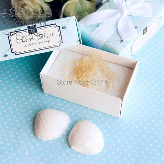 free shipping 20sets seashell soap favors scented soap wedding