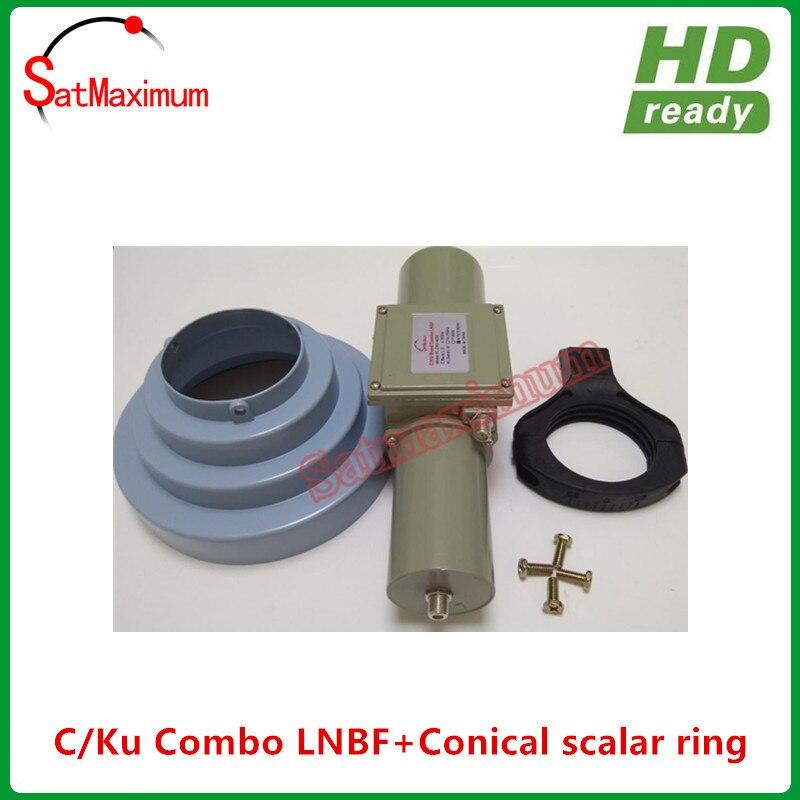 送料無料円錐スカラーリング lnb ホルダーキット + 100% アルミ高利得 C/ku バンドコンボユニバーサル LNBF  グループ上の 家電製品 からの 衛星 TV 受信機 の中 3