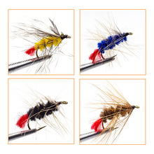 Classic 16 PCS Dry Wet Flies Fly Fishing Set For Trout Salmon Pheasant Tail Dry Fly Lures kit Caddis Insects Patterns flyfishing