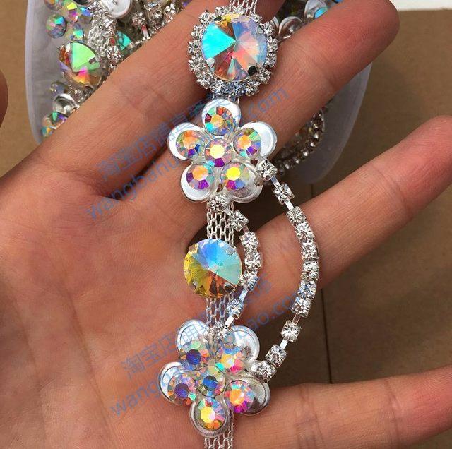 Online Shop free shipping 1 yard high-quality AB crystal rhinestone ... e885f1d56e35