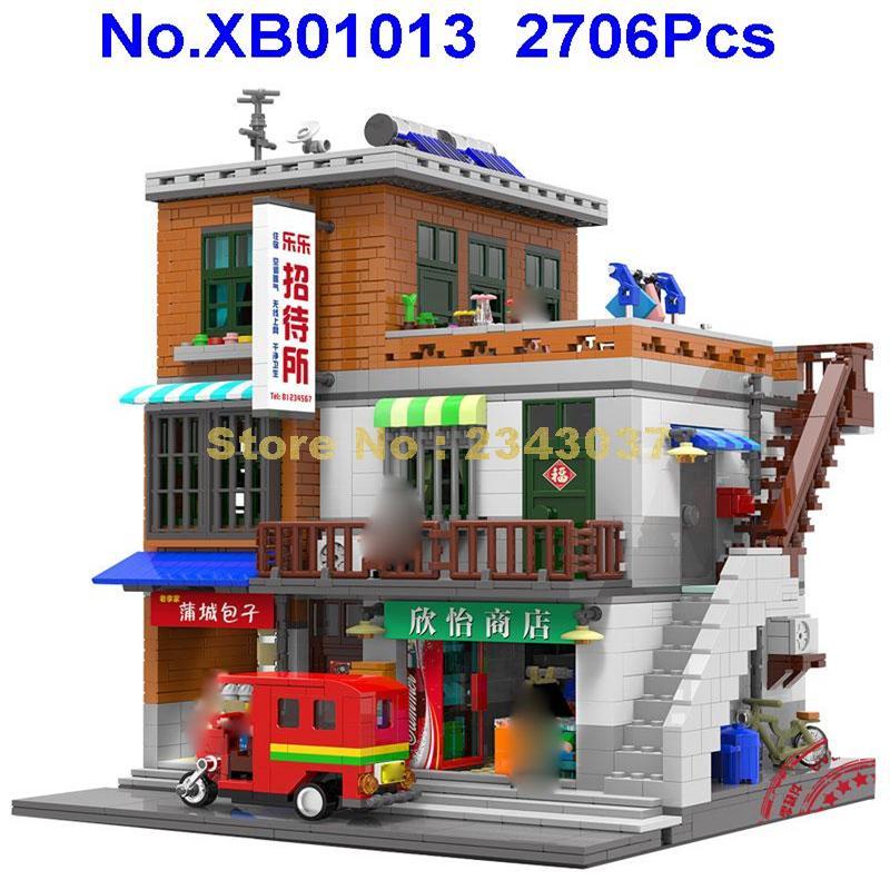 Xb01013 2706 stücke kreative moc stadt serie städtischen dorf gebäude block Spielzeug-in Sperren aus Spielzeug und Hobbys bei  Gruppe 1