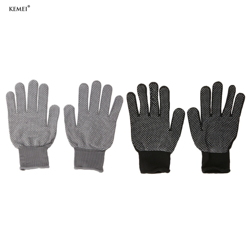 2pcs Heat Resistant Protective Glove Hair Styling For Curling Straight Flat Iron
