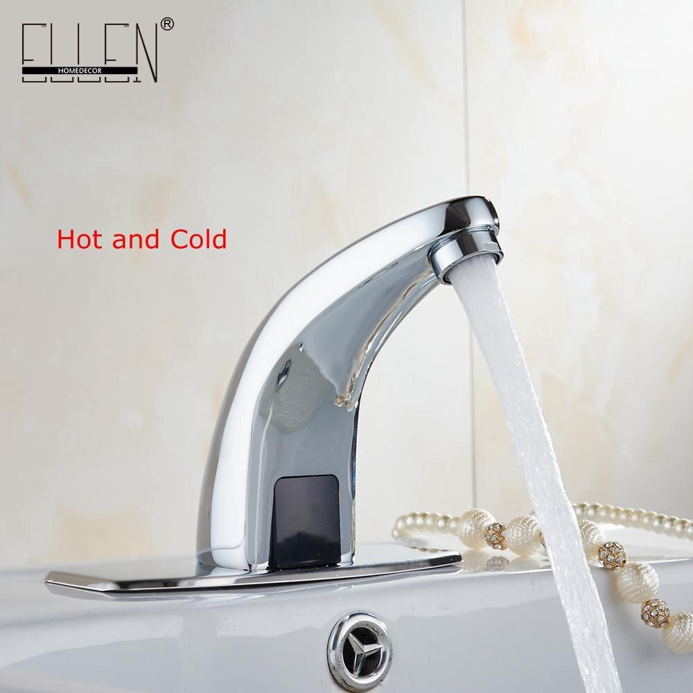 Горячей и холодной автоматическая руки сенсорный Бесплатная Сенсор кран Ванная комната раковина Ванная комната кран