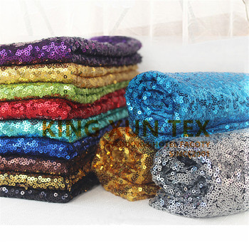 Cheap Price Sequin Fabric For Table Cloth Event Dress Wedding Decoration