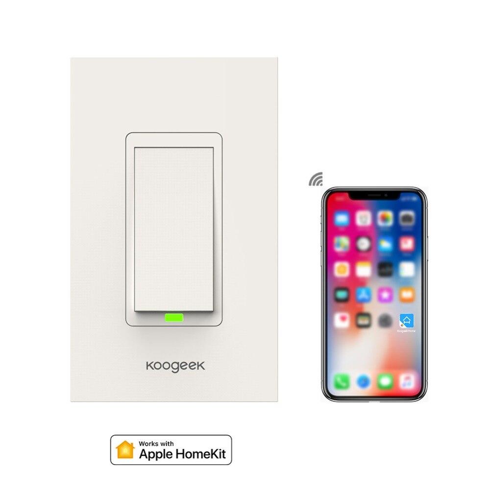 Koogeek Wi Fi Intelligente Lichtschalter für Apple HomeKit mit Siri ...
