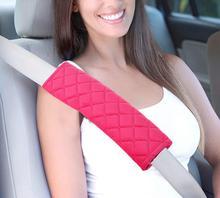 2Pcs/Set 7 Colors Car Seatbelt Shoulder Pad Comfortable Driving Seat Belt Vehicle Soft Plush Auto Belts Strap Harness Cover