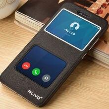 Xiao Mi 6 кожаный чехол флип окна протектор крышка Сяо Mi6 мобильный телефон сумка аксессуар M6 couro Капа Coque 5.15″