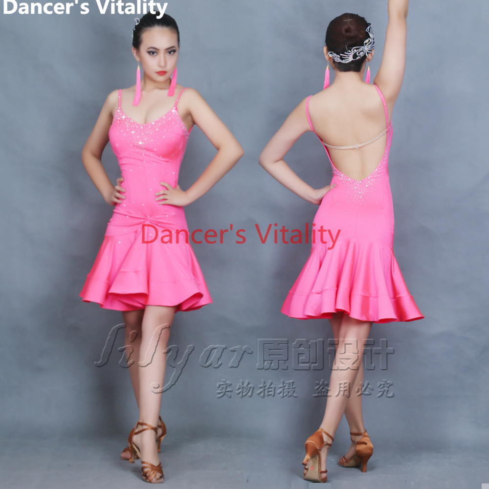 Sleeveless Latin Dance Costumes For Women Latino Dance Dress Women Salsa Samba Tango Rumba Ballroom Competition Latin Dance Top