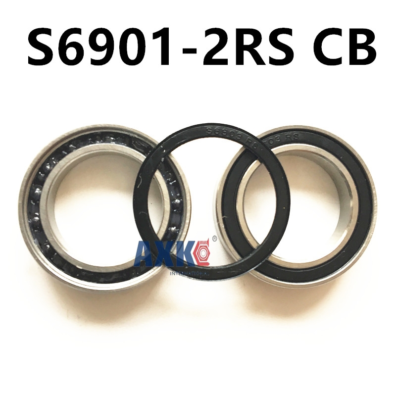 Free shipping S6901-2RS CB stainless steel 440C hybrid ceramic deep groove ball bearing 12x24x6mm 6901 61901 s69012rs s6901rs free shipping high quality s6904 2rs 20 37 9 mm stainless steel 440c hybrid ceramic deep groove ball bearing 20x37x9 s6904rs
