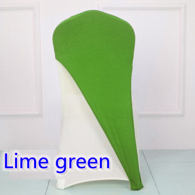 lime green colour lycra chair covers caps universal for wedding