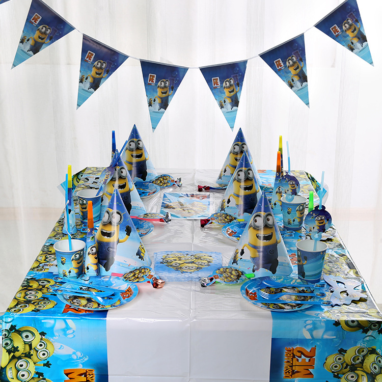 196pcs/lot Minions Theme Family Party Wedding Gift Bag Invitation Card Birthday Paper Cup Plate Straw Horn Table Cover Supply196pcs/lot Minions Theme Family Party Wedding Gift Bag Invitation Card Birthday Paper Cup Plate Straw Horn Table Cover Supply