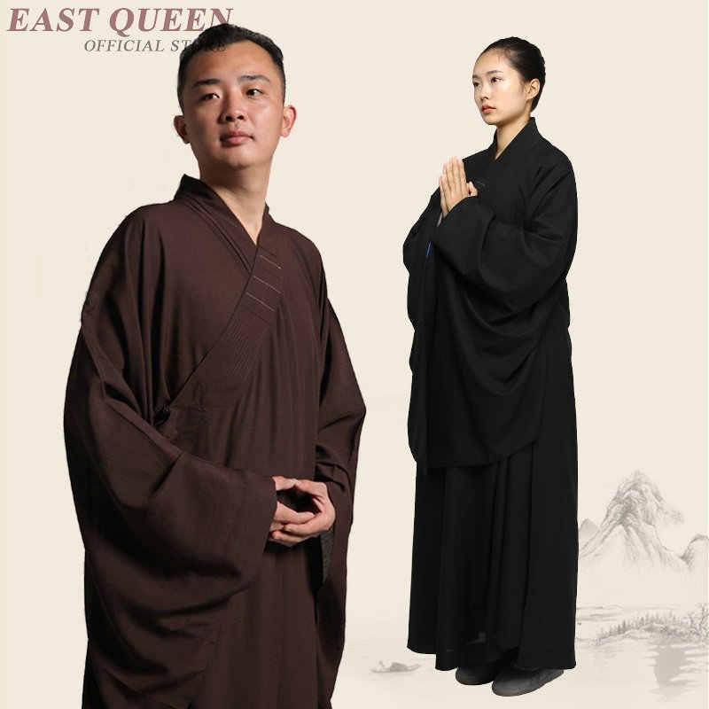 僧侶のローブ服衣装少林寺の僧の服僧侶服制服瞑想服 KK2089 Y