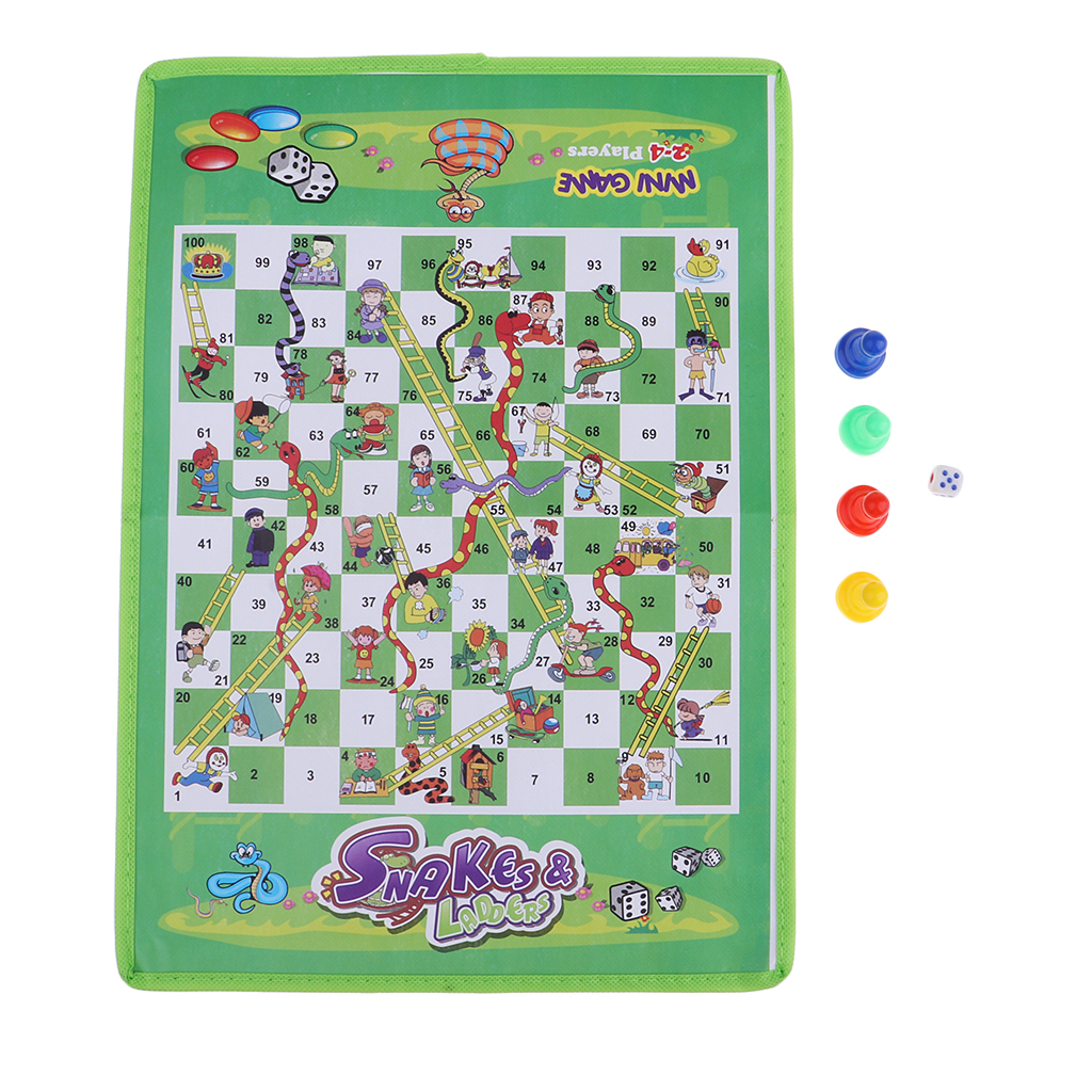 Snake and Ladder Kids Children Portable Flying Chess Ludo Board Family Game analog watch