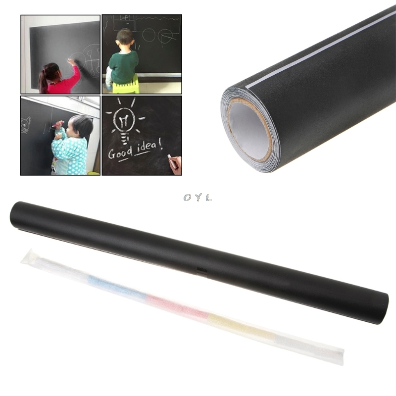 Creative Novelty 45*200 Cm Environmental Blackboard Chalk Board Sticker Wall Sticker For School And Office(China)