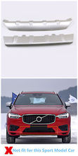 Plastic Front + Rear Bumper Protector Skid Plate 2pcs For Volvo XC60 2018-2019