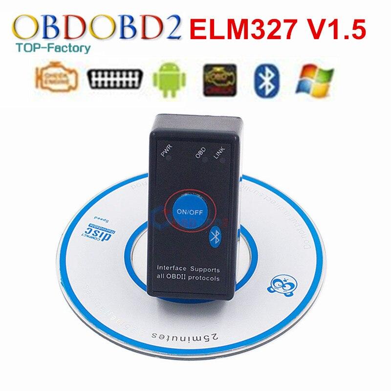 Super ELM327 V1.5 Power Schalter Für Alle OBD2 Protokoll Diagnose Scanner Werkzeug ELM327 Für Android Drehmoment OBDII CAN-BUS code Reader