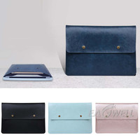 Eagwell Retro Design PU Leather 11 13 15 Universal Laptop Sleeve Case Bag Slim Notebook Sleeve