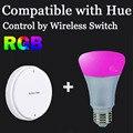 Wireless zigbee interruptor de control e27 bombilla inteligente compatible con puente 1.0 y 2.0 bombilla hue by tono app directamente