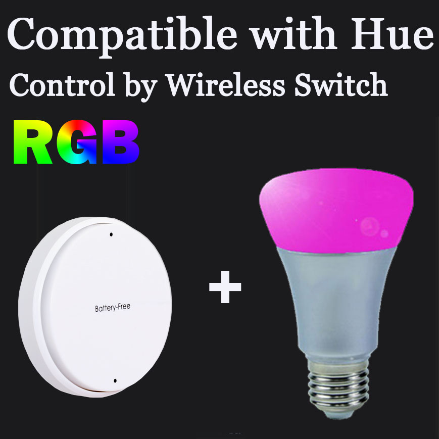 Wirless Switch Control E27 ZigBee Smart Bulb Compatible With Hue Bridge 1.0 and