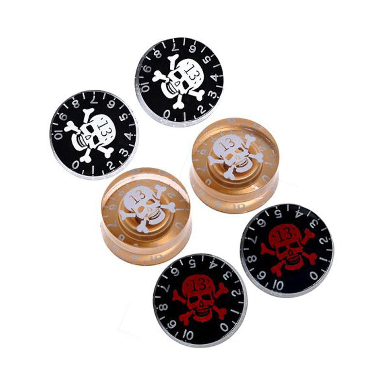 Skull Head Electric Guitar Knob Tone Volume Control for Gibson Les Paul Guitar Replacement - Price for 1 piece best price wholesale les new paul custom shop black electric guitar paul fret binding china guitar factory free shipping