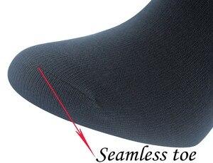 Image 3 - Chaussettes diabétiques en bambou pour femmes, avec bout sans couture, 6 paires, taille 9 11