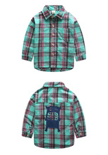 Boys shirt 2016 autumn children's clothing children boy in plaid long-sleeved casual shirt for 2-7T