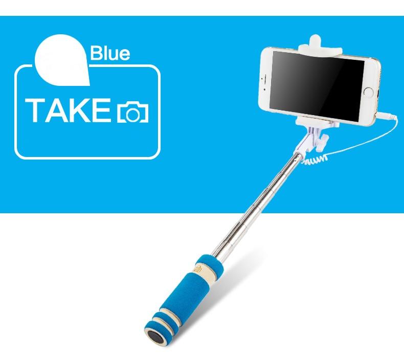 IPhone üçün Portativ qatlanan Simli Mini selfie çubuqlar Samsung - Kamera və foto - Fotoqrafiya 5