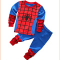 Pijama de super-heróis Superman Spiderman Batman Pijamas Crianças Pijamas Meninos Pijamas Roupa Das Crianças Set Pijama Do Bebê Do Miúdo