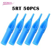 5RT 50 PCS/lot Round Tip Tattoo Disposable Nozzle High Quality Plastic Tips For Machine Supplies Free Shipping