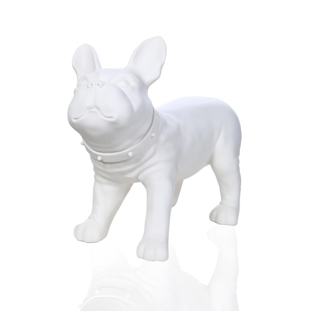 White Plastic Dog Model Mannequin For Display