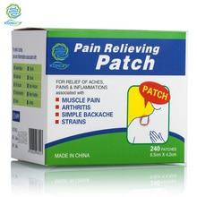 KONGDY sağlık tıbbi yara bandı 480 adet = 2 kutu vücut ağrı kesici yama yapıştırıcı kas/artrit/bacak ağrı yama