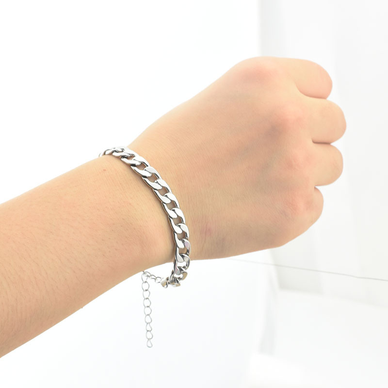 Adjustable Bracelets Link-Chain Hand-Accessories Couple Stainless-Steel Gothic-Style