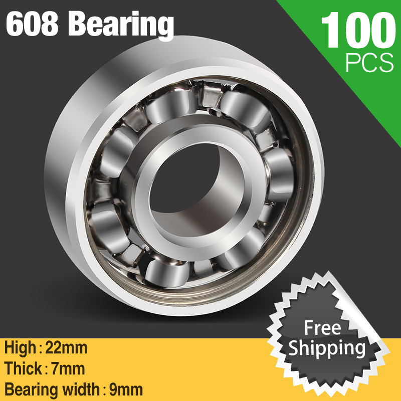 100pcs 608 Bearing Ball For Finger Gyro Hand Spinner Fidget Toys Autism And ADHD Rotation Time Long Anti Stress Fingertip Toy ynynoo edc hand spinner led tri spinner fidget toy plastic for autism and adhd rotation anti stress wheel toys stres spiner p832